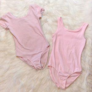 Danskin Now Pink Dance/Leotard Body Suits